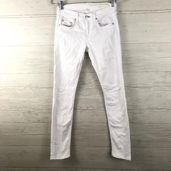 rag & bone Denim - Rag & Bone The Dre White Denim Skinny Jeans